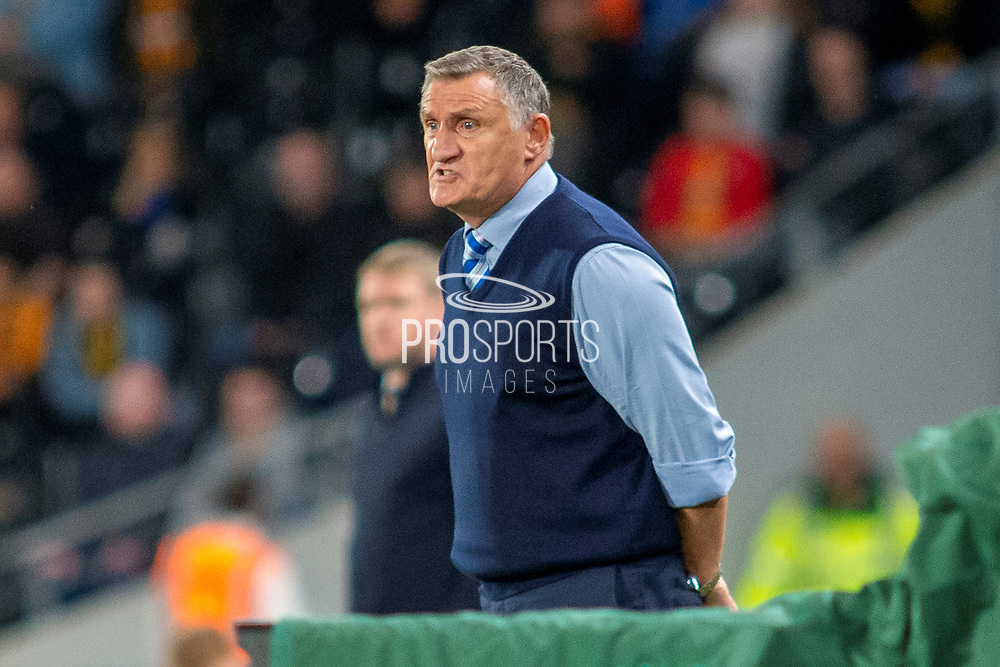 Blackburn Rovers Manager Tony Mowbray during the EFL Sky Bet Championship match between Hull City and Blackburn Rovers at the KCOM Stadium, Kingston upon Hull, England on 20 August 2019.