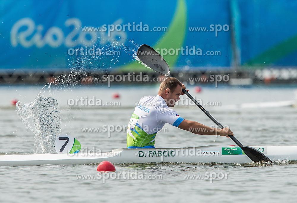 Dejan Fabcic of Slovenia competes in Canoe Sprint Men's KL2 Final during Day 8 of the Rio 2016 Summer Paralympics Games on September 15, 2016 in Lagoa Canoe Stadium, Rio de Janeiro, Brazil. Photo by Vid Ponikvar / Sportida