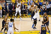 Golden State Warriors forward Matt Barnes (22) shoots a floater against the Utah Jazz during Game 2 of the Western Conference Semifinals at Oracle Arena in Oakland, Calif., on May 4, 2017. (Stan Olszewski/Special to S.F. Examiner)