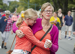 March 23, 2019 - Christchurch, Canterbury, New Zealand - People participate in 'A March for Love' to unite the community in the wake of a terrorist attack on two city mosques that left 50 people dead. Thousands turned up to march from Hagley Park to the Botanic Gardens, which was organized by three teenagers. (Credit Image: © PJ Heller/ZUMA Wire)