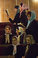 Tehran, Iran. September 13, 2007- Women pray during a Rosh Hashanah ceremony, celebrating the Jewish new year at the Pesyan synagogue.