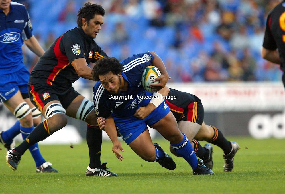 5 March, 2004. Eden Park, Auckland, New Zealand. Rugby Union Super 12. Blues v Chiefs.<br />John Afoa.<br />Pic: Andrew Cornaga/Photosport