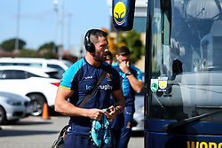 Matt Cox of Worcester Warriors arrives at Sandy Park for the Premiership fixture against Exeter Chiefs - Mandatory by-line: Robbie Stephenson/JMP - 29/09/2018 - RUGBY - Sandy Park Stadium - Exeter, England - Exeter Chiefs v Worcester Warriors - Gallagher Premiership Rugby