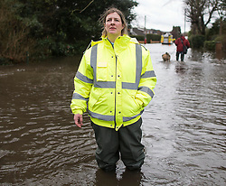 © London News Pictures. 11/02/2014. Wraysbury, UK.  SUE BURROWS, who had challenged MP Philip Hammond when he visited Wraysbury today (11/02/2014) . The Wraysbury area has been hit hard by recent flooding from the nearby Thames River. Photo credit : Ben Cawthra/LNP