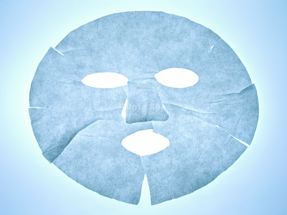 a flattened facial mask