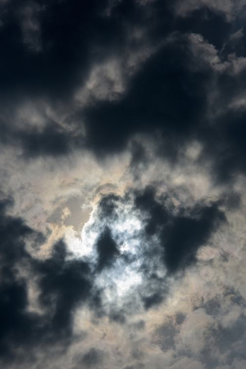 Clouds and sun above Islay, Scotland