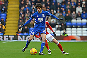 Birmingham City striker Diego Fabbrini (10) on the ball 0-0 during the EFL Sky Bet Championship match between Birmingham City and Nottingham Forest at St Andrews, Birmingham, England on 14 January 2017. Photo by Alan Franklin.