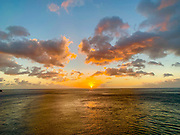 Sunset, Fatu Hiva, Marquesas, French Polynesia, South Pacific