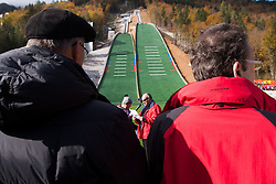 Ljubo Jasnic, president of committee for ski jumping  during Slovenian summer national championship and opening of the reconstructed Bloudek's hill in Planica on October 14, 2012 in Planica, Ratece, Slovenia. (Photo by Grega Valancic / Sportida)