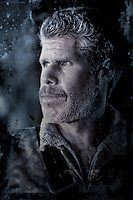 Actor Ron Perlman on set