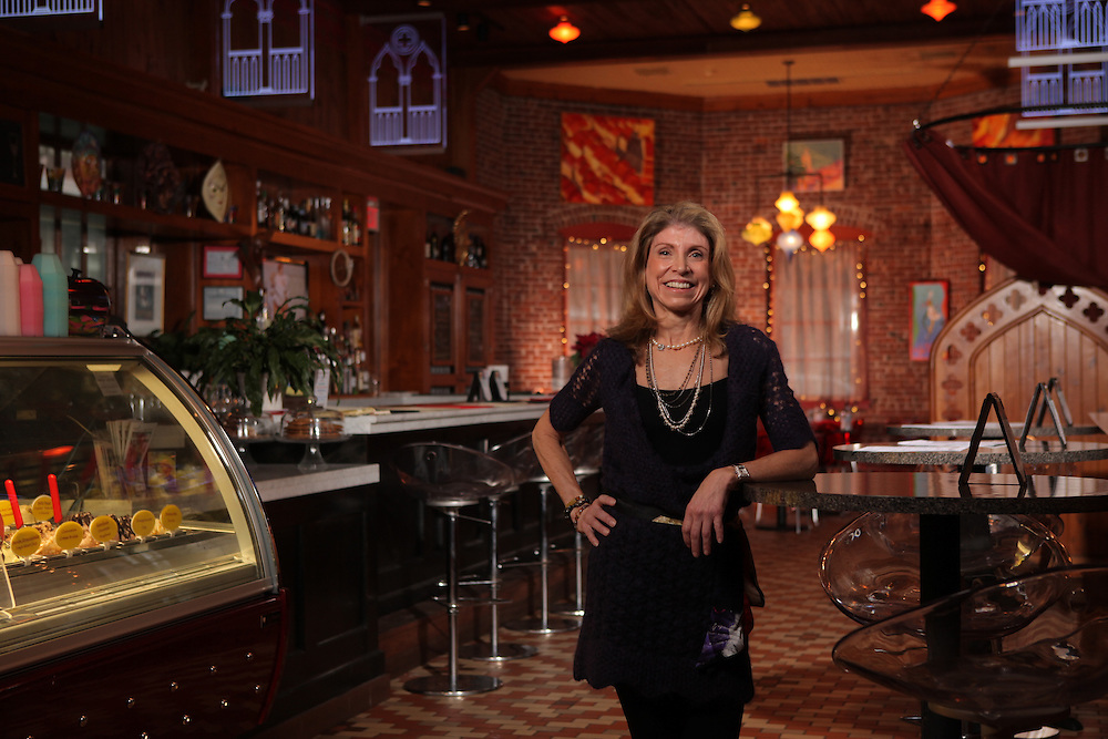Via Vanti owner Carla Gambescia opened the restaurant in 2008 after a space became available at the Mount Kisco train station. Gambescia is photographed at Via Vanti on Kirby Plaza in Mount Kisco on Jan. 26, 2012. ( Xavier Mascareñas / The Journal News )
