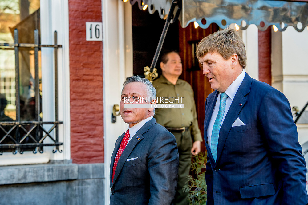 20-3-2018 THE HAGUE King Willem Alexander and Queen Maxima and King Abdullah II and Queen Rania<br />  during World Class Students, theater Diligentia. King Abdullah II and Queen Rania<br />  of Jordan will visit the netherlands for 2 days for a official visit ROBIN UTRECHT