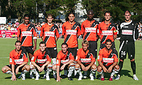 Fotball<br /> Frankrike<br /> Foto: DPPI/Digitalsport<br /> NORWAY ONLY<br /> <br /> FOOTBALL - FRIENDLY GAMES 2008/2009 - FC LORIENT v GIRONDINS BORDEAUX - 27/07/2008 - LAGBILDE LORIENT ( BACK ROW LEFT TO RIGHT: FABRICE ABRIEL / CHRISTOPHE JALLET / HAMED NAROUCHI / MICHAEL CIANI / SYLVAIN MARCHAL / FABIEN AUDARD. FRONT ROW: MORGAN AMALFITANO / KEVIN GAMEIRO / ULRICH LE PEN / YANN JOUFFRE / JEREMY MOREL )