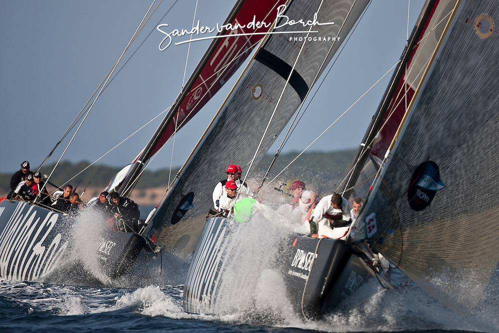 Artemis (SWE) vs Emirates Team New Zealand (NZL). La Maddalena, Sardinia, June 1st 2010. Louis Vuitton Trophy  La Maddalena (22 May -6 June 2010) © Sander van der Borch / Artemis