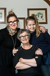 Mojca Trnovec, owner of Restaurant Gostilna Mihovec with her family, on May 10, 2019, in Zgornje Pirnice, Slovenia. Photo by Vid Ponikvar / Sportida