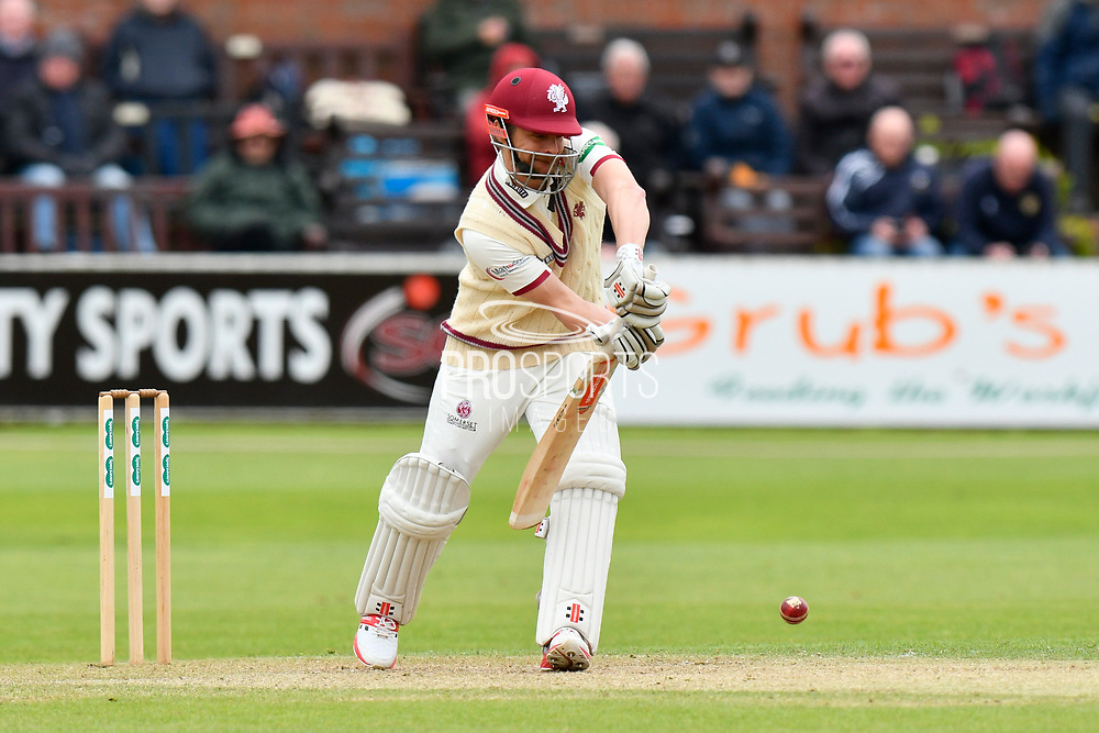 James Hildreth of Somerset batting during the third day of the Specsavers County Champ Div 1 match between Somerset County Cricket Club and Yorkshire County Cricket Club at the Cooper Associates County Ground, Taunton, United Kingdom on 29 April 2018. Picture by Graham Hunt.