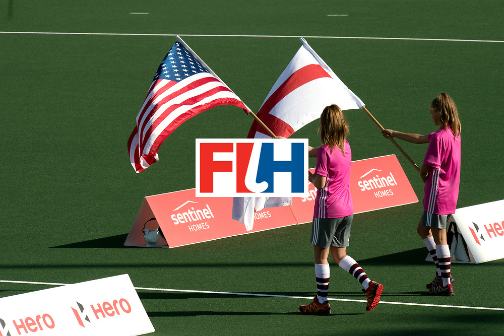 AUCKLAND - Sentinel Hockey World League final women<br /> World Cup<br /> Foto:Flags<br />  Nederlands dames hockey elftal bereikt de semi finale.