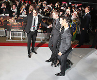 Robert Pattinson; Kristen Stewart; Taylor Lautner The Twilight Saga: Breaking Dawn Part 1 UK Premiere, Westfield Startford City, London, UK. 16 November 2011. Contact rich@pictured.com +44 07941 079620 (Picture by Richard Goldschmidt)