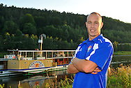 06-08-2008 Voetbal:Maikel Aerts:Bad-Schandau:Duitsland<br /> Willem II is in Oost Duitsland in Bad-Schandau voor een trainingskamp.<br /> Eerste doelman Maikel Aerts <br /> foto: Geert van Erven