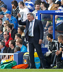 West Ham Manager, Sam Allardyce issues instructions to his team - Photo mandatory by-line: Mitchell Gunn/JMP - Mobile: 07966 386802 - 25/04/2015 - SPORT - Football - London - Loftus Road<br />  - QPR v West Ham United - Barclays Premier League