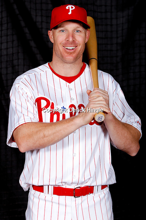 February 22, 2011; Clearwater, FL, USA; Philadelphia Phillies second baseman Pete Orr (60) poses during photo day at Bright House Networks Field. Mandatory Credit: Derick E. Hingle