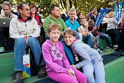 Fans during 2nd Game of Davis Cup Slovenia vs. South Africa on September 13, 2013 in Tivoli park, Ljubljana, Slovenia. (Photo by Vid Ponikvar / Sportida.com)