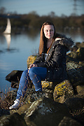 Recovering survivor of the 2014 Bin Lorry Crash in Glasgow's George Square  shot for the Sunday Mail