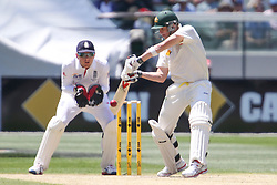 © Licensed to London News Pictures. 27/12/2013. <br /> Steve Smith batting during Day 2 of the Ashes Boxing Day Test Match between Australia Vs England at the MCG on 27 December, 2013 in Melbourne, Australia. Photo credit : Asanka Brendon Ratnayake/LNP