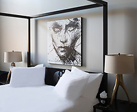 Boutique Hotel Grinnell. Each guest room is unique with its own design and artwork.
