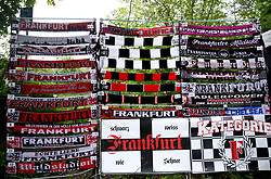A general view of commemorative match scarves for sale outside the stadium prior to the UEFA Europa League Semi final, first leg match at The Frankfurt Stadion, Frankfurt.