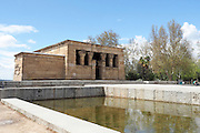 The Debod Temple. Authentic Egyptian temple dating from the 2nd Century BC and dedicated to the gods Amon and Isis, Madrid, Spain