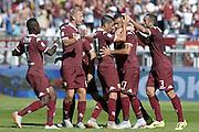 © Filippo Alfero<br /> Torino-Sampdoria, Serie A 2015/2016<br /> Torino, 20/09/2015<br /> sport calcio<br /> Nella foto: esultanza giocatori Toro dopo gol