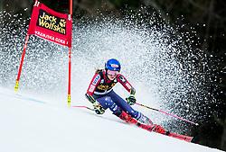 "Mikaela Shiffrin (USA) competes during 1st Run of the FIS Alpine Ski World Cup 2017/18 5th Ladies' Giant Slalom race named ""Golden Fox 2018"", on January 6, 2018 in Podkoren, Kranjska Gora, Slovenia. Photo by Ziga Zupan / Sportida"