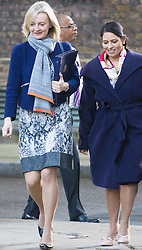 Downing Street, London, October 11th 2016. Government ministers arrive for the first post-conference cabinet meeting. PICTURED: Justice Secretary and Lord Chancellor Liz Truss (l) and International Development Secretary Priti Patel