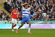 Reading's Nick Blackman rues a missed attempt on goal during the Sky Bet Championship match between Reading and Charlton Athletic at the Madejski Stadium, Reading, England on 17 October 2015. Photo by Mark Davies.