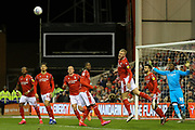 Nottingham Forest defender Joe Worrall  heads the ball during the EFL Sky Bet Championship match between Nottingham Forest and Charlton Athletic at the City Ground, Nottingham, England on 11 February 2020.