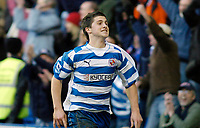 Photo: Gareth Davies.<br />Reading v Sheffield United. The Barclays Premiership. 20/01/2007.<br />Reading's Shane Long celebrates scoring his first Premiership goal.