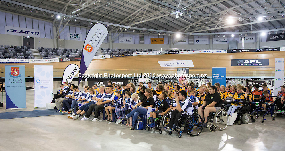 Official opening, Day 1, Halberg Junior Disability Games, St Peter's School, Cambridge, New Zealand. Friday, 22 April, 2016. Copyright photo: John Cowpland / www.photosport.nz