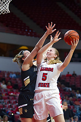 NORMAL, IL - October 30: Lexy Koudelka during a college women's basketball game between the ISU Redbirds and the Lions on October 30 2019 at Redbird Arena in Normal, IL. (Photo by Alan Look)