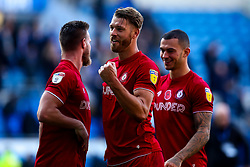 Nathan Baker of Bristol City celebrates beating Cardiff City - Mandatory by-line: Robbie Stephenson/JMP - 10/11/2019 -  FOOTBALL - Cardiff City Stadium - Cardiff, Wales -  Cardiff City v Bristol City - Sky Bet Championship