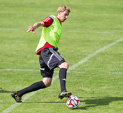 17.07.2014, Alois Latini Stadion, Zell am See, AUT, Bayer 04 Leverkusen Trainingslager, im Bild Stefan Kießling (Bayer 04 Leverkusen) // Stefan Kießling (Bayer 04 Leverkusen) during a Trainingssession of the German Bundesliga Club Bayer 04 Leverkusen at the Alois Latini Stadium, Zell am See, Austria on 2014/07/17. EXPA Pictures © 2014, PhotoCredit: EXPA/ JFK