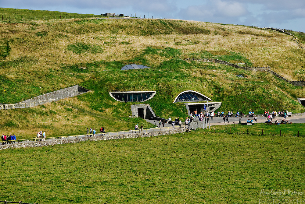 The Cliffs of Moher interpretive centre in county Clare, Ireland.