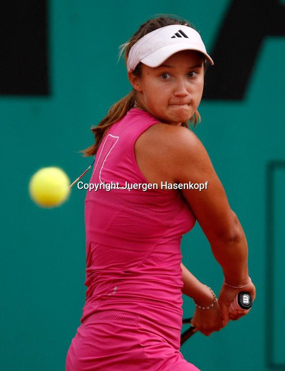 French Open 2010, Roland Garros, Paris, Frankreich,Sport, Tennis, ITF Grand Slam Tournament, ..Junioren Match, Lauren Davis (USA), ..Foto: Juergen Hasenkopf..