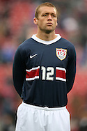 Jimmy Conrad, of the United States, as the U.S. debuts their new uniforms on Sunday, February 19th, 2005 at Pizza Hut Park in Frisco, Texas. The United States Men's National Team defeated Guatemala 4-0 in a men's international friendly.