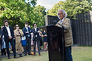 CHRISTO, Opening of Christo and Jeanne-Claude: ,Barrels and the Mastaba 1958 - 2018, London, 21 June 2018
