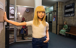 Teenage girl figure on display at  refurbished Museum of Childhood on the Royal Mile in Edinburgh Old Town, Scotland, United Kingdom