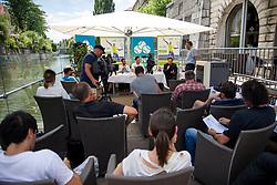 At Press conference before ATP Challenger Portoroz 2018, on July 17, 2018 in Ljubljana, Slovenia. Photo by Urban Urbanc / Sportida