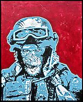 """32"""" X 40"""" Acrylic on Hardboard - SOLD"""
