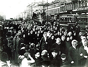 USSR:  Women's March, St Petersburg (Leningrad), 8 March 1917.
