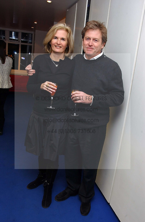 JOHN PAWSON and his wife CATHERINE at an exhibition of leading artist Ellsworth Kelly at the Serpentine Gallery, Kensington Gardens, London followed by a dinner at the Riverside Cafe, London on 17th March 2006.<br />